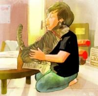 #子どもとねこ #抱き合う #人間とねこの理想の姿