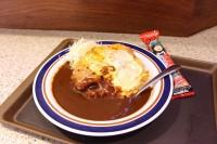 アパ社長カレーかつ丼 780円 うまい棒がついている(富士そば赤坂見附店にて8月31日までの期間限定で販売)