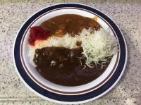 あいがけカレー(650円)アパ社長カレーと富士そばのカレー、食べ比べができる。赤阪見附店の期間限定メニュー