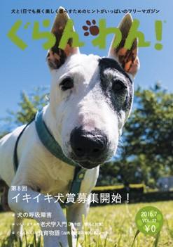 『ぐらんわん!』Vol.32 表紙:グーフィーくん(ブルテリア・当時15歳)