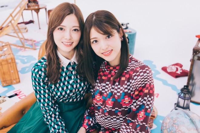 乃木坂46(左から)白石麻衣、松村沙友理(写真/西田周平)