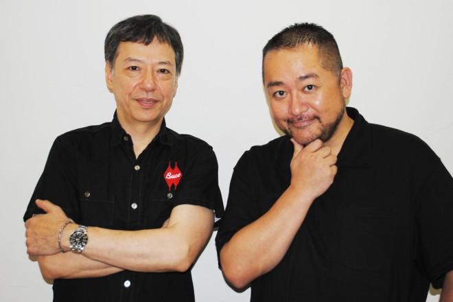 『関西演劇祭』フェスティバル・ディレクターの板尾創路とスペシャルサポーターの西田シャトナー(右)