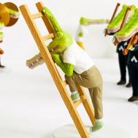イラストがガチャに『クロコダイルの日常』(タカラトミーアーツ)「はしご」