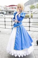 『東京ゲームショウ2019』コスプレイヤー・雨晴ゆずかさん<br>(『Fate』アルトリア・ペンドラゴン)
