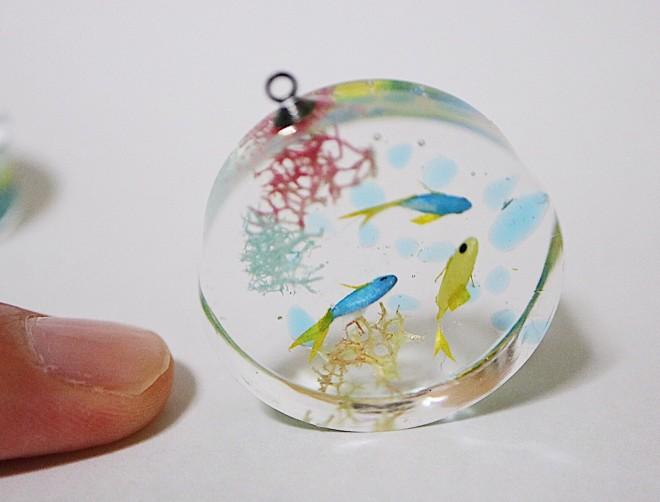 海の魚のキーホルダー。制作・写真/sawamin