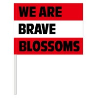 WE ARE BRAVE BLOOSOMSフラッグ