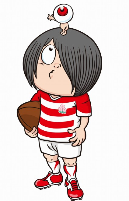 ラグビー日本代表×「ゲゲゲの鬼太郎」(C)JRFU(C)水木プロ