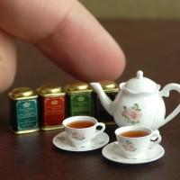 【ミニチュア】紅茶セット 制作&写真/田波亨(Petit Palm)