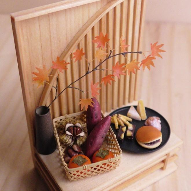 【ミニチュア】和菓子セット 制作&写真/田波亨(Petit Palm)