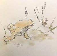 勇敢なコオロギ1/『ゆるふわ昆虫図鑑』(作者:じゅえき太郎)より