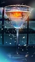 banishmentさんによるイラスト「水面の下の灯り」