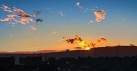 banishmentさんによるイラスト2 風景画の過程2/4 雲が足された。