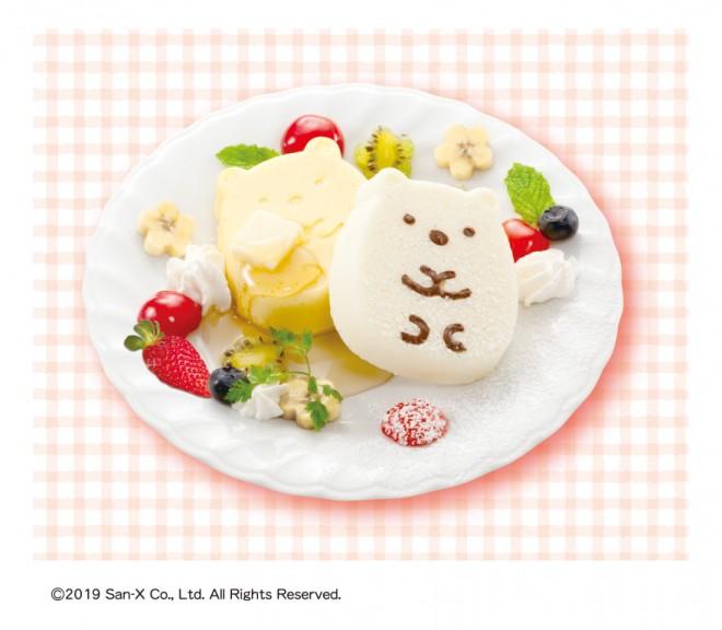 メガハウスのクッキングトイ『すみっコぐらし ふんわりおうちパンケーキ』で作った、キュートなパンケーキ