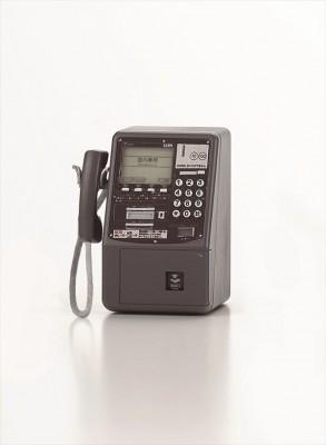 実はデータ通信もできるディジタル公衆電話機(平成8年) 画像提供:NTT東日本 協力:NTT技術史料館