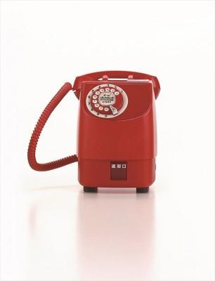 懐かしの赤電話 (昭和46年) 画像提供:NTT東日本 協力:NTT技術史料館