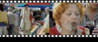 1997年放送『市場』篇。押し強めなおばちゃんにたじろぐ中井貴一
