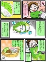 「白菜の黒いブツブツ」について描いた漫画。Twitter上でのRT数は10万を超えたという