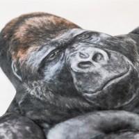 大人気のイケメンゴリラ、東山動植物園のシャバーニがモデルになっている。表情もリアルに再現