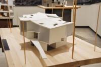 ウィンター・ビジュアル・アーツ・センター、フランクリン&マーシャル大学(アメリカ、ランカスター)/アメリカを代表する建築家スティーブン・ホール氏による建築模型(建築倉庫ミュージアム『Steven Holl:Making Architecture』より)