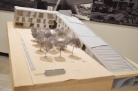 グラッセル美術大学、ヒューストン美術館(アメリカ、ヒューストン)/アメリカを代表する建築家スティーブン・ホール氏による建築模型(建築倉庫ミュージアム『Steven Holl:Making Architecture』より)