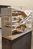 ハンターズ・ポイント図書館(アメリカ、ニューヨーク市クイーンズ)/アメリカを代表する建築家スティーブン・ホール氏による建築模型(建築倉庫ミュージアム『Steven Holl:Making Architecture』より)