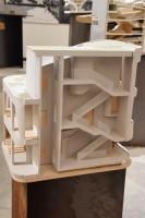 マギーズ・センター・バーツ(イギリス、ロンドン)/アメリカを代表する建築家スティーブン・ホール氏による建築模型(建築倉庫ミュージアム『Steven Holl:Making Architecture』より)