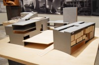 ルイス・センター・フォー・ジ・アーツ(アメリカ、プリンストン)/アメリカを代表する建築家スティーブン・ホール氏による建築模型(建築倉庫ミュージアム『Steven Holl:Making Architecture』より)