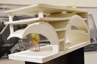 金宝山景観墓園(台湾、台北市)/アメリカを代表する建築家スティーブン・ホール氏による建築模型(建築倉庫ミュージアム『Steven Holl:Making Architecture』より)