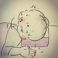 ホンマジュンコさん(@umetokoume)のインスタ漫画『梅さんと小梅さん』より「ちびっこあるある」
