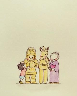 『梅さんと小梅さん』「NHK教育テレビ『おーいはに丸』」より