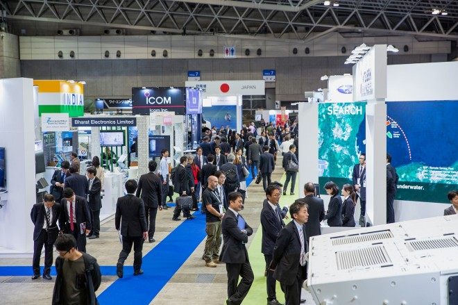『DSEI Japan 2019』会場の様子