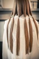 ヘアドネーションで寄付する前の髪の毛