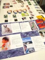 『がんフォト*がんストーリー』イベントで展示された小冊子など