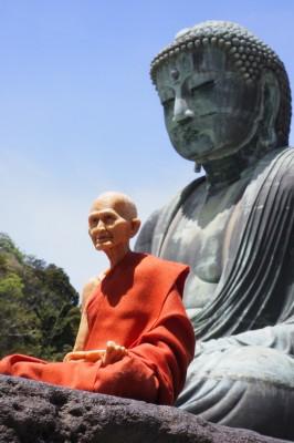 大仏と一緒に瞑想