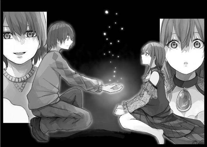 秋月アキラがイラストを描く、空伏空人著『魔女の花嫁 seasons beside a witch』(LINEノベル)
