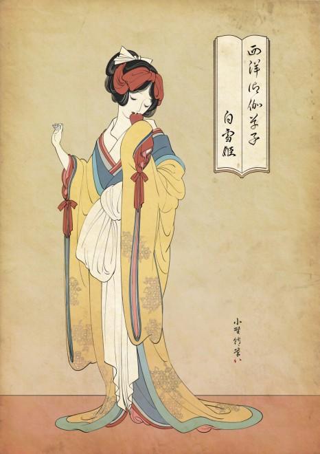 白雪姫にアナ雪 美しすぎる 浮世絵風アート にディズニーファンからも反響続々 Oricon News