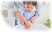 子どもの手洗い補助ができる『おててポン』