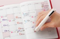 オピニ 手帳のはんこペン、予定を入れるのに活躍