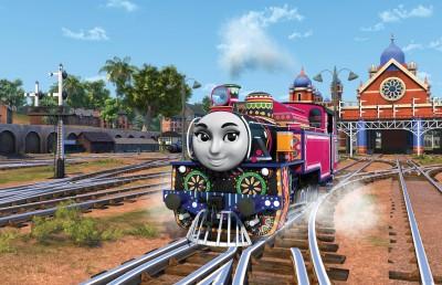 みなみインドから来た女の子機関車「アシマ」。楽しく元気なキャラクター (C)2020 Gullane (Thomas) Limited.