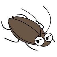 【デフォルメ】クロゴキブリ(斜め)