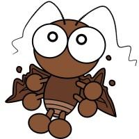 【デフォルメ】びっくりするゴキブリ