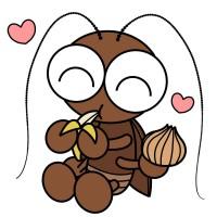 【デフォルメ】好物を食べるゴキブリ