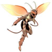 【擬人化】特撮ヒーローになったオスゴキブリ(飛び立つポーズ)