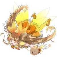 【擬人化】魔法少女になったメスゴキブリ(空を飛ぶポーズ)