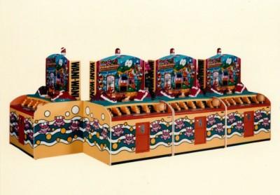 8人通信対戦型「ワニワニパニック GRAND PRIX」(1991年)(C)BANDAI NAMCO Entertainment Inc.