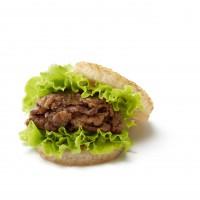 「モスライスバーガー焼肉」…「モスライスバーガー」はモスが1987年に初めて発売したこだわりの商品