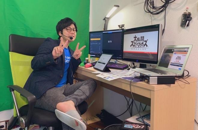 田口尚平さんゲーム実況の様子