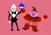 「塩の魔人と醤油の魔人」ファンアート