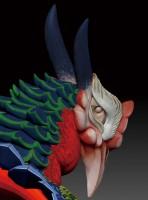 長野県「岩松院」にある葛飾北斎の天井画『八方睨み鳳凰図』を3Dプリンターで立体化した際の3Dデータ。八方睨みの追視の効果を実現