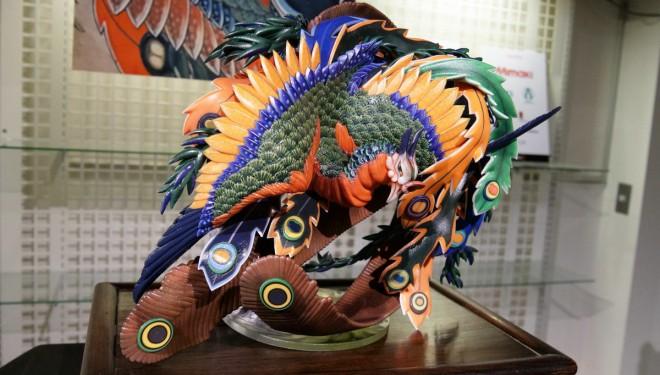 吉本さんの作品…葛飾北斎の天井画『八方睨み鳳凰図』を3Dプリンターで立体化